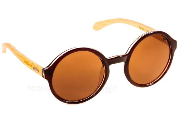 Γυαλιά Artwood Milano Bambooline Oval MP200 Brown Transp - bamboo temples