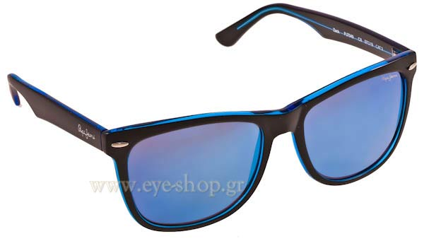 ΓυαλιάPepe JeansZack PJ7049c8 Matte Black-Milky Grey blue mirror
