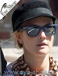 Drew Barrymoreμε τα γυαλιά ηλίου RayBan2140 Wayfarer