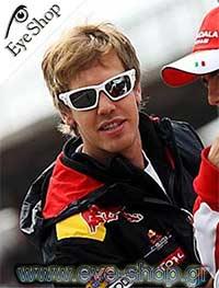 Sebastian Vettelμε τα γυαλιά ηλίου Oakleyscalpel 9095