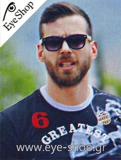 Γιώργος Μπαλωμένοςμε τα γυαλιά ηλίου Artwood MilanoBambooline 1 MP200
