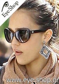 Jessica Albaμε τα γυαλιά ηλίου Gucci3510