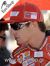 Nicky Haydenμε τα γυαλιά ηλίου Oakleyantix 9077
