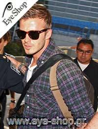 Jude Lawμε τα γυαλιά ηλίου Rayban2140 Wayfarer