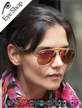 Katie Holmes  Color on Katie Holmes Wearing Sunglasses Rayban 3422q At Eye Shop Gr