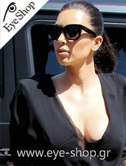 Kim Kardashianμε τα γυαλιά ηλίου CelineCL 41039S