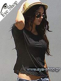 Megan Foxμε τα γυαλιά ηλίου RayBan3025 aviator