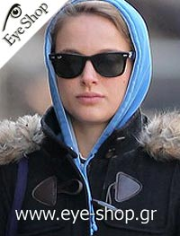 Natalie Portmanμε τα γυαλιά ηλίου RayBan2140 wayfarer