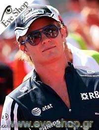 Nico Rosbergμε τα γυαλιά ηλίου RayBan4125 CATS 5000
