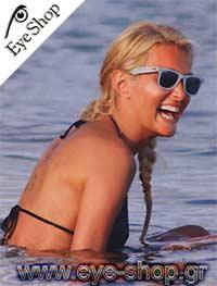 Νατάσσα Θεοδωρίδουμε τα γυαλιά ηλίου RayBan2140 wayfarer