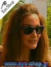 Δέσποινα Βανδήμε τα γυαλιά ηλίου RayBan2140 wayfarer