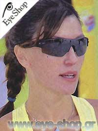 Βίκυ Χατζηβασιλείουμε τα γυαλιά ηλίου Oakleyradar