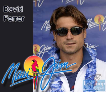 O τεννίστας David Ferrer με Maui Jim sunglasses..