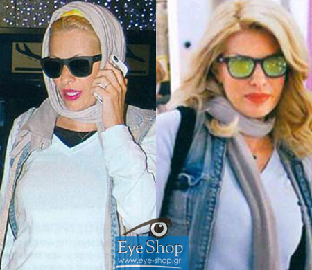 Eye ShopNews - Γυαλιά ηλίου - Celebrities  Η Μενεγάκη με γυαλιά ηλίου  Armani και Oakley ebaed2e356a