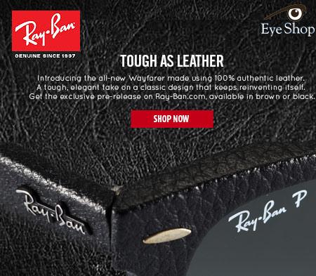 Γυαλιά ηλίου Rayban Wayfarer Leather 2014