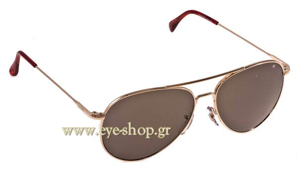 Γυαλια Ηλιου American Optical GENERAL Gold Grey Τιμή: 102,00