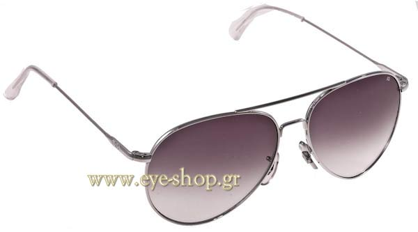 Γυαλια Ηλιου American Optical GENERAL Silver - Gray Gradient Τιμή: 106,00