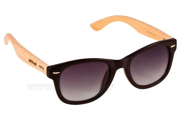 Γυαλια Ηλιου Artwood Milano Bambooline 1 MP200 Black - bamboo temples Τιμή: 73,00