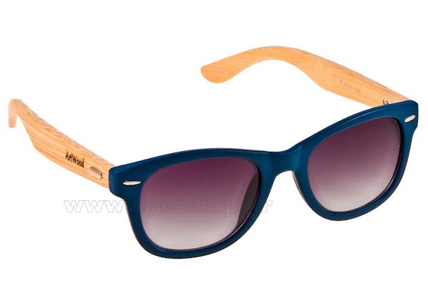 Γυαλια Ηλιου Artwood Milano Bambooline 1 MP200 Blue - bamboo temples Τιμή: 85,50