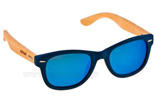 Γυαλια Ηλιου Artwood Milano Bambooline 1 MP200 Blue Mirror - bamboo temples Τιμή: 95,00