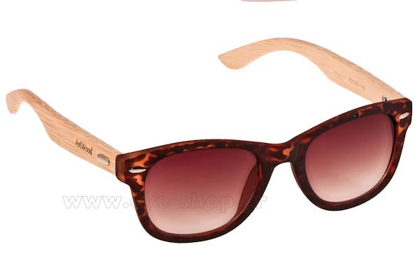 Γυαλια Ηλιου Artwood Milano Bambooline 1 MP200 Leopard Brown - bamboo temples Τιμή: 80,00