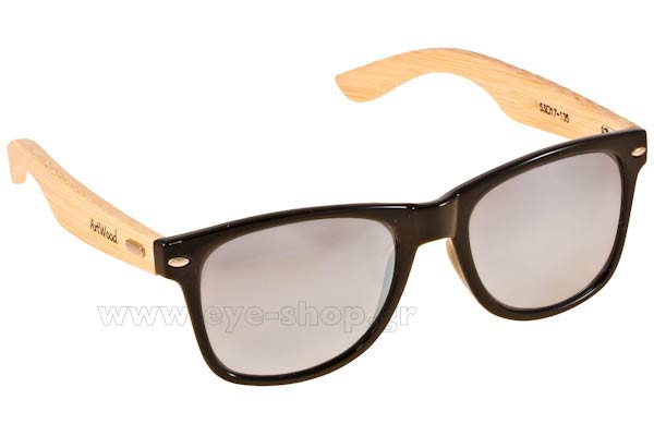 Γυαλια Ηλιου Artwood Milano bambooline 2 MP200 Black Silver Mirror Polarized cat3 Τιμή: 100,00