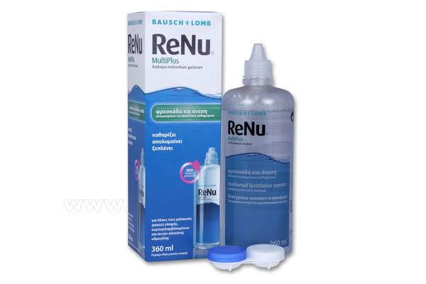Υγρό καθαρισμού φακών επαφής Bausch-Lomb ReNu MultiPlus Solution 360ml