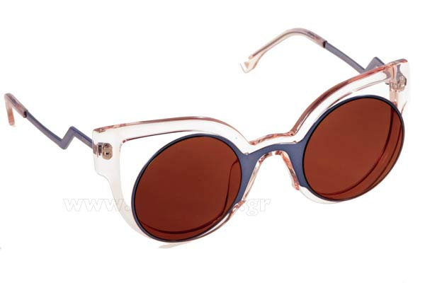 Γυαλια Ηλιου Fendi FF-0137S NT7  (LC)	BLUE PINK (BROWN GOLD AR) size 57 Τιμή: 230,00