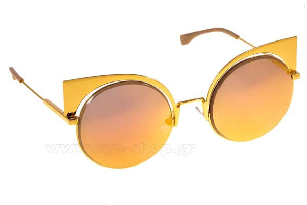 Γυαλια Ηλιου Fendi FF-0177-S-EYESHINE 001  (OJ)	YELL GOLD (FUCHSIA GOLD ML) size 55 Τιμή: 414,97