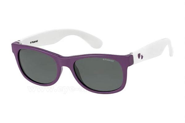 Γυαλια Ηλιου Polaroid 0300 22Z (Y2) PURPLEWHT (GREY PZ) size 42 Τιμή: 41,00