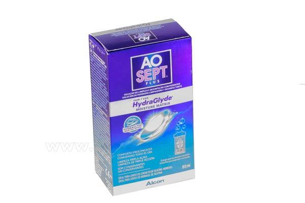 Υγρό καθαρισμού φακών επαφής Alcon Ciba Aosept Plus 90ml Hydraglide