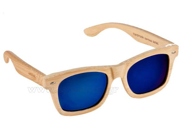 Γυαλια Ηλιου Artwood-Milano MyWay-04 Blue mirror Polarized Natural Bamboo size 54 Τιμή: 100,00