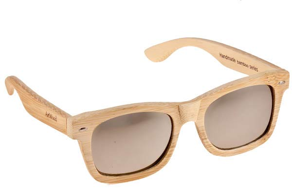 Γυαλια Ηλιου Artwood-Milano MyWay-04 Silver Mirror Polarized Natural Bamboo - size 54 Τιμή: 100,00