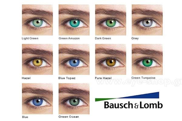 f1a48de2b0 ΦΑΚΟΙ ΕΠΑΦΗΣ Bausch-Lomb Natural Colors Έγχρωμοι Eye-Shop