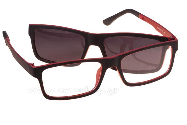 386df42b5d Οπτικά Γυαλιά οράσεως Bliss P005 clipon included RED b-memory polarized  Magnetic Clipon size 53