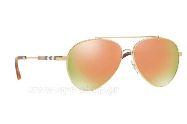 07e057162c0 ΓΥΑΛΙΑ ΗΛΙΟΥ Burberry Ροζ χρυσό καθρέφτη 2019 γνήσια στην καλύτερη ...