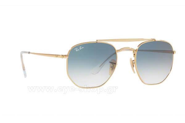 Γυαλια Ηλιου Rayban 3648-THE-MARSHAL 001/3F Hexagonal Double Bridge size 51 Τιμή: 121,75