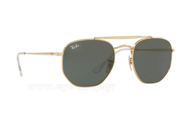 Γυαλια Ηλιου Rayban 3648-THE-MARSHAL 001 Hexagonal Double Bridge size 51 Τιμή: 106,04